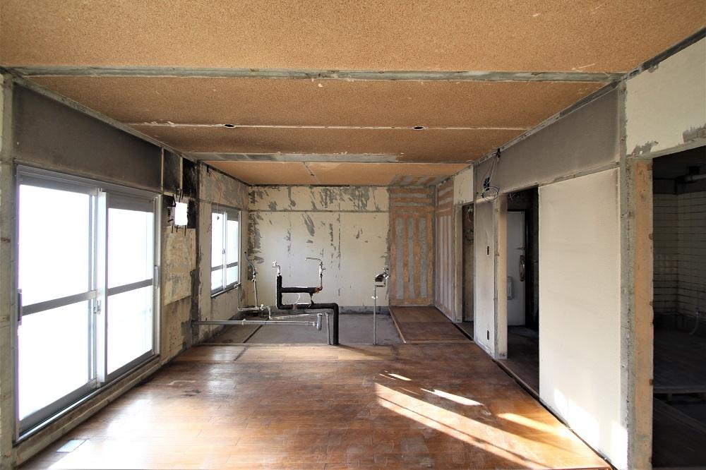 村上団地、キッチン、和室解体