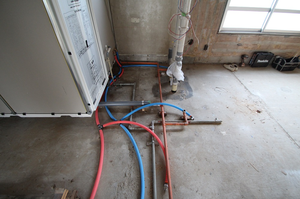 村上団地給排水合配管