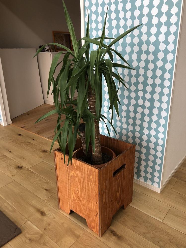 木製植木鉢カバー